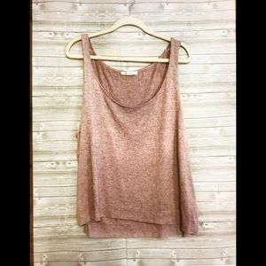 St. John Sweater Tank Heathered Tan Sz XL